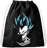 SV Vegeta Pelo Azul Goku Dragon Mochila Bolsa Gym Bag Sport Jute Pouch, Mochila