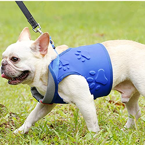 VICTORIE Perros Pecho de Arnés Antitirones Chaleco para Perro Pequeño Mediano Grande Mascotas para Caminar Entrenamiento Azul L