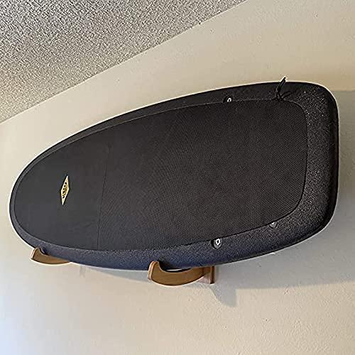 Driver13 ® SUP Surfboard Wandhalterung für SUP/Stand up Paddleboard aus Holz mit Schutzgummi