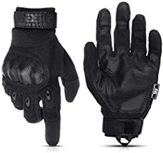 Glove Station The Combat Military Police Outdoor Sports Tactical Rubber Knuckle Gloves for Men, Black, Size 2XL, 1-Pair