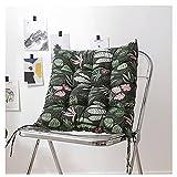 CGDX Sitzkissen Stuhl, Sitzkissen Gartenstuhl, Sitzkissen Outdoor, Set Aus 100% Baumwolle Stuhlauflagen Mit Riemen, Soft Comfy Dining Gartenstuhlauflage 40x40 cm