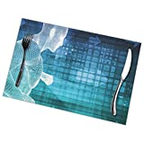 N / A Non-Slip Placemats,Heat Insulation Table Mats,Home Dinner Place Mats,Kitchen Protector Mats,Abstract