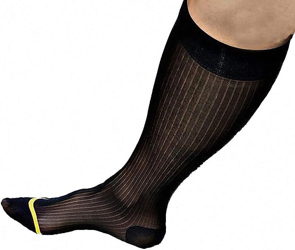 Men's Thin Silk Formal Dress Suit Transparent Sheer Male Business Dress Socks