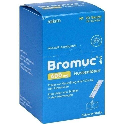 BROMUC akut 600 mg Hustenlöser Plv. z. H. e. L. z. Einn. 20 St