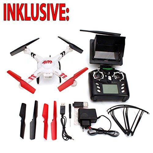 HSP Himoto RC Ferngesteuerter Quadcopter mit Live-Videoübertragung über FPV-Monitor, 4.5-Kanal Quadrocopter inkl. HD Kamera-Set, FPV-Monitor, LiPo-Akku, Ersatzteil-Set