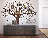 LUCKKYY Grant Family Tree Wall Decal with Family Like Branches on a Tree Wall Decal Sticker Quote Living Room Decor(83' Wide x 83' high) (Brown)