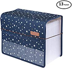 Expanding File Folder Document Organizer, with Cover 13 Pockets File Folders/Expandable Filing Folders A4 Size Accordion for Office/Business/School/Family Bill Paperwork