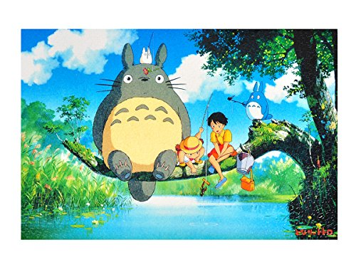 CoolChange Totoro Puzzle, 1000 Teile, Motiv: Totoro am Fluß