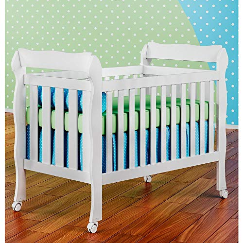 Berço Mini Cama Lila 3 em 1 Branco - Carolina Baby