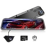 "WOLFBOX 2.5K Mirror Dash CAM de 12""IPS Full Touch Screen, Full HD 1440P Cámara Frontal y Trasera, Dual Dash CAM con cámara de Respaldo Impermeable, Super visión Nocturna con Sensor Sony IMX415, GPS"