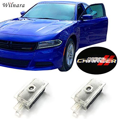 Car LED Logo Light Dodge Projector Ghost Shadow Charger 2 Pack OEM Courtesy Light for Dodge Charger SRT Hellcat GT R/T Daytona Scat Pack-No25