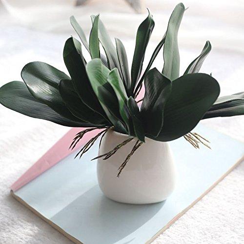 Takefuns Orchideenblätter, künstliche Sträucher mit künstlichen Orchideenblättern, 5 Stück