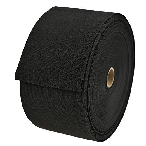 maDDma 1m Gummiband Gummilitzen gewoben glatt Meterware weiß schwarz Variantenwahl, Farbe:schwarz, Größe:10cm