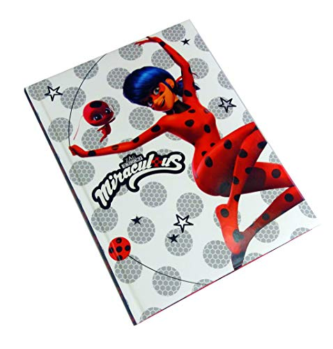 Agenda escolar 10 meses Miraculous – Producto oficial – Dimensiones 15 x 20 cm (Ladybug y Tikki)