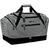JAKO Sporttasche Champ mit Bodenfach, 60 cm, 68 L, Grau Meliert
