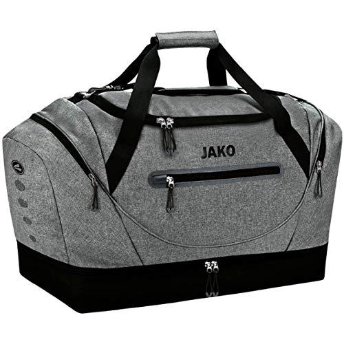 JAKO Unisex– Erwachsene Champ Sporttasche, grau meliert, Senior 65 x 29 x 40 cm