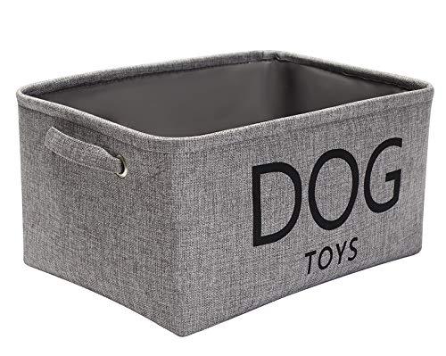 Pethiy Aufbewahrungskorb für Hundespielzeug, Leinen, 40 x 30 x 20 cm