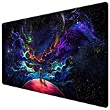Extended Gaming Mouse Pad Custom Design Computer Gaming Mouse Mat with Smooth Surface XXL Large Size Desk Pad with Non-Slip Rubber Base Ideal for Keyboard, PC and Laptop (90X40 Little dogY11)