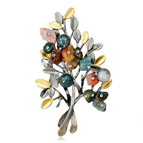KENYG Mothers Day Christmas Tree Brooch Pins Women Fashion Jewellery For Mum