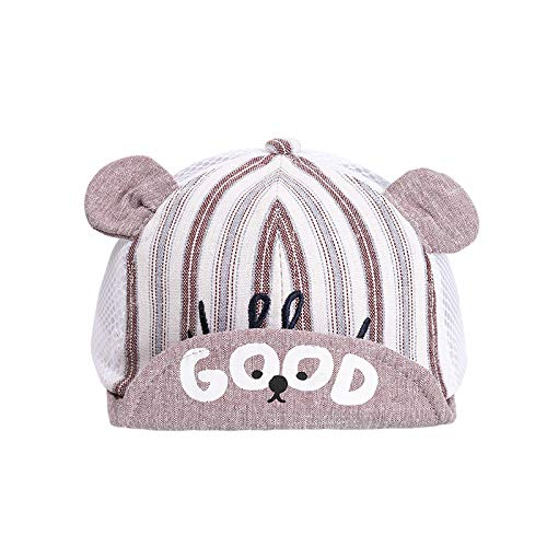 Sombreros para niños Primavera y Verano Nueva versión Coreana de algodón Puro Letra Oso Gorra de Red Protector Solar Gorra de bebé