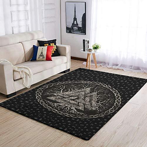 Haythan Alfombras para decoración de oficina, color blanco, 122 x 183 cm