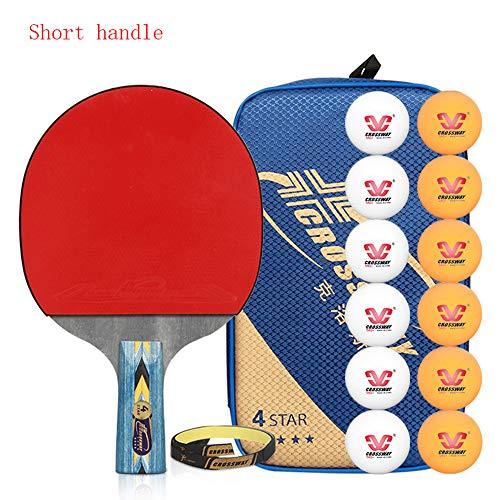 Buy Bargain SSHHI 4 Stars Ping Pong Paddle,5 Layers of Wood,Comfortable Handle,1 Table Tennis Bat Fa...