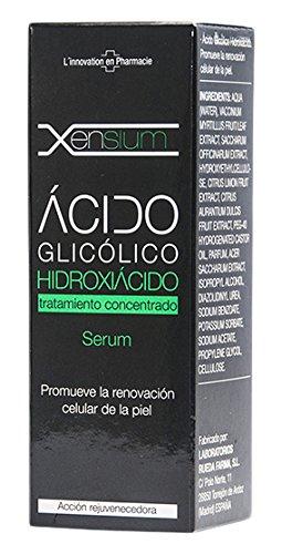 Xensium Serum Acido Glicólico Hidroxiácido - Paquete de 2 x 30 ml - Total: 60 ml