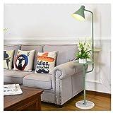 MRTYU-UY Lámpara de pie Lámpara de pie Lámpara de pie Moderna con Mesa de Centro Dormitorio Sala de Estar Estudio Luz de Lectura de Oficina Lámpara de pie Lámpara de pie Lámpara de pie (Color: Verde)