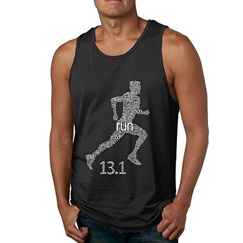 13.1 Half Marathon Runner Typography Art Mans Vest XL Black