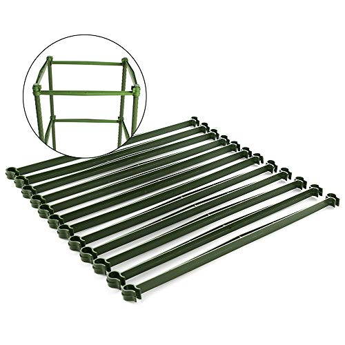 Okngr Tomato Cage Connectors, 12 Pcs Stake Arms for Tomato Cage,Trellis Connectors Garden Plants Stake Arms with 2 Buckle for Any 11mm Diameter Plant Stakes,11.8 Inches