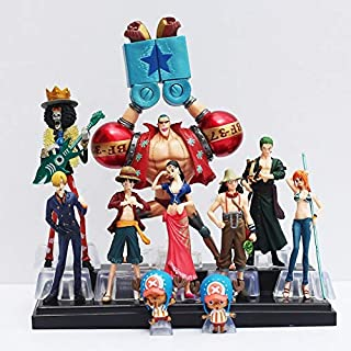 10Pcs/Lot Anime Figure Straw Hats Luffy Roronoa Zoro Sanji Chopper PVC Action Figure Collectible Model Toy Gift 4-19Cm Must-Have Unique Gifts Boys Favourite Characters 4T Superhero Mini Unboxing