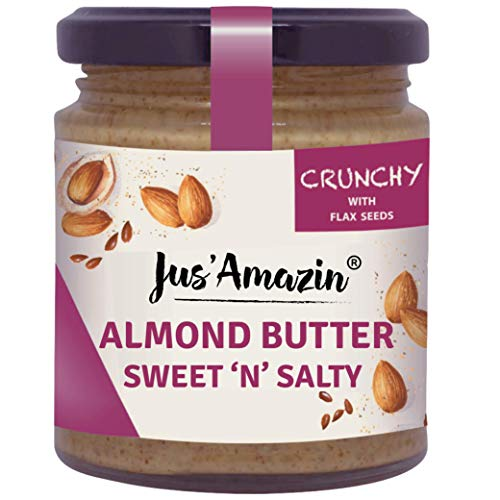 Almond Butter with Crunchy Flax Seeds 200 gm (7.05 Oz)