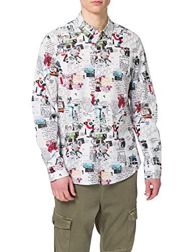 Desigual CAM_Abelardo Camiseta, Blanco, XXL para Hombre