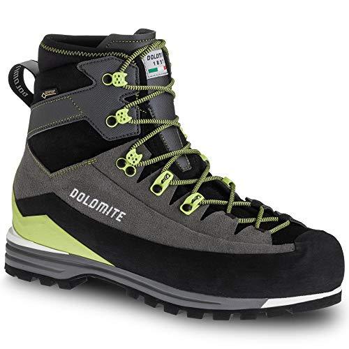DOLOMITE Bota Ms Miage GTX, Chaussure Bateau Mixte Adulte, Anthracite/Lime Green, 46.5 EU