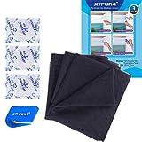 Moustiquaire pour fenêtre - 3 paquets, JIT-FUNG Moustique Insect Mesh, 1,3 m x 1,55 m, avec 3 rubans adhésifs-2.0 Pro (Noir)