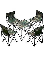 折りたたみキャンプ テーブル 椅子付き アウトドア チェア テーブル 5点セット 椅子 背もたれ付き