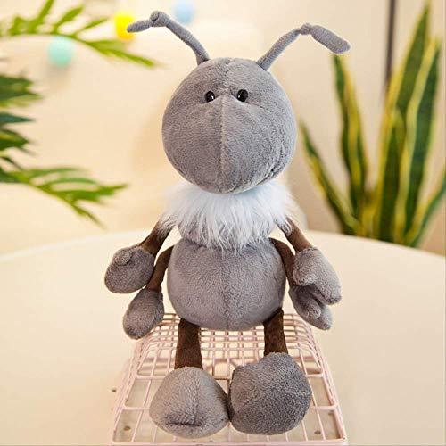 BEST9 Ameise Königreich süße Ameise Plüsch Spielzeug gefüllte Tiere Puppe Kuscheltiere für Kinder Geburtstagsgeschenk, 40cm grau