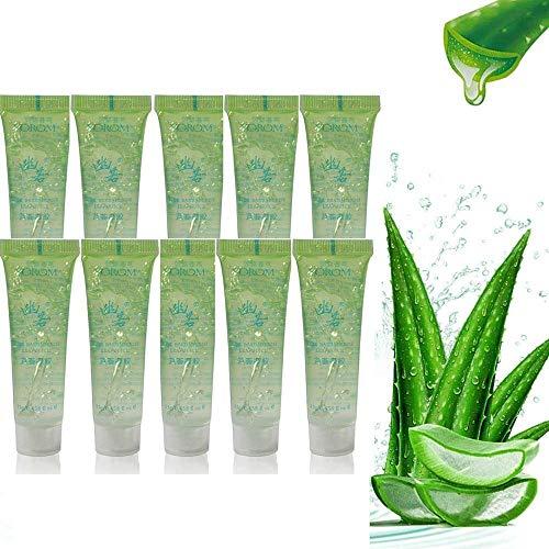 Pure Natural Aloe Vera Gel Heals Skin Moisture Cream for After Sun Body Hydratisers - Care for Sunburn, non irritant Pure Aloe Gel (10 pcs)