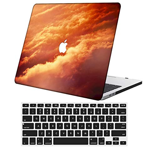NKDCase Case for Newest MacBook Air 13 inch Model A2179 Cut Out Design,Plastic Ultra Slim Light Hard Case Keyboard Cover Compatible MacBook Air 13 inch with Retina Display Touch ID,Red Series 0438