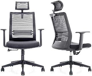 Ajustables Altas sillas de Escritorio Volver Malla, Silla ergonómica del Ordenador Que descansa, Asiento de Altura Ajustable y Transpirable Headrest- Malla, para la Oficina Moderna