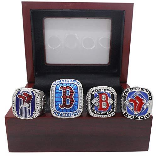 YMQUU Gedenkring für Baseballspielpreise, rote Socken-Champion-Replik-Ring-Set, College-Student Männer tragen Ring