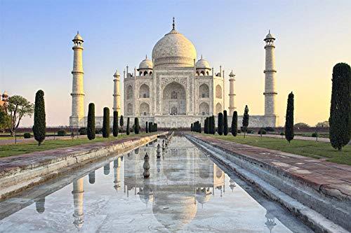 Taj Mahal Paisaje Rompecabezas De Madera Adultos 1000 Piezas Rompecabezas Paisaje Mundialmente Famoso Rompecabezas Educación Juguetes Niños Niños Regalos 500Pieces