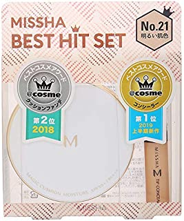 MISSHA(ミシャ) クッションファンデ(モイスチャー)+ザ コンシーラー BEST HIT セット No.21明るい肌色 ファンデーション 15g+6g
