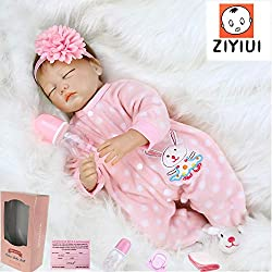 Size:22inch(55cm)Newborn size Weight:about 1.5KG(3.3IB) .The doll will arrive with a magnetic pacifier and a feeding bottle to fit the mouth . Material:silicone vinyl head ,3/4 silicone vinyl limbs with stuffed PP cotton body,very soft gentle touch.c...