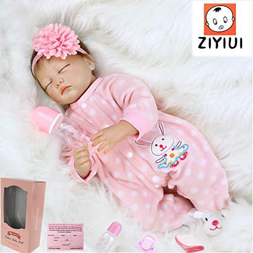 ZIYIUI Muñecas Reborn 22 Pulgadas 55cm muñecas bebé Reborn Suave Vinilo de Silicona Realistas Bebe Reborn Silicona Reales Regalo de Juguete