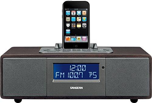 Sangean WR-5 UKW Radio - iPod-Docking Station - Wiedergabe- und Ladefunktion - Braun