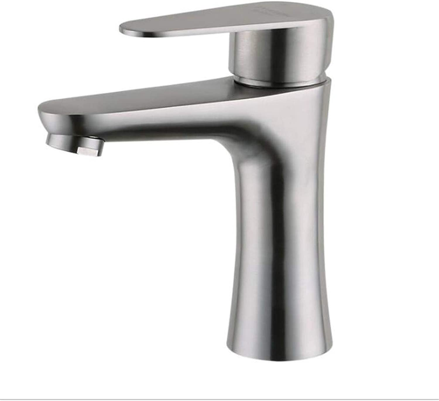 Bathroom Sink Basin Lever Mixer Tap 304 Stainless Steel Thickened Drawing Pot Lead Bathroom Low-Style Washbasin Platform