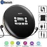 Lecteur de CD Portable avec Bluetooth, Lecteur de CD Personnel Compact avec Casque Lecteur de Disque avec Protection Anti-Saut électronique et Fonction Anti-Choc Petits lecteurs de Musique