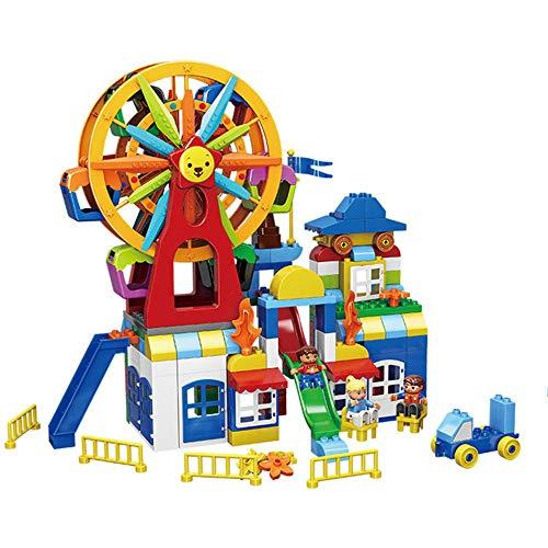Parque juguete, diversión paraíso Serie Tecnología engranaje deslizante partículas grandes Puzzle Puzzle Inserte los juguetes adecuados para la ingeniería de construcción juguetes de los niños de 6 a 12 Años de Edad