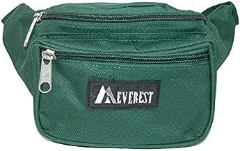 Everest Fabric Multi Pocket Fanny Waist Pack, Forest Green